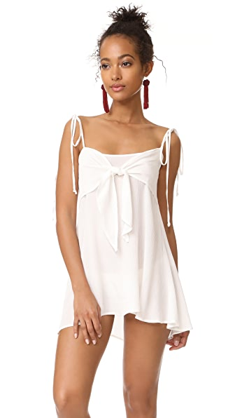 For Love & Lemons Toledo Mini Dress In Ivory