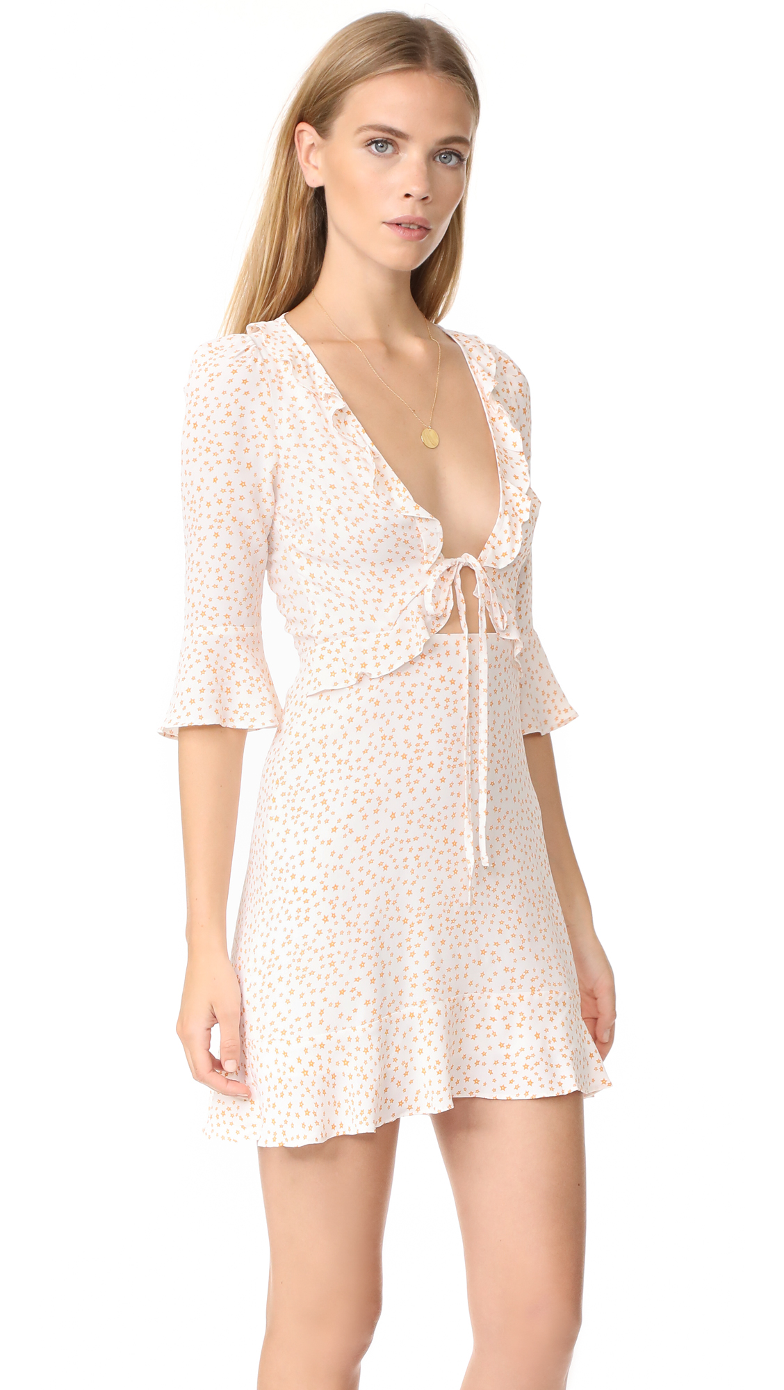 2d0b901579ba For Love & Lemons Nostalgic Tie Front Dress | SHOPBOP
