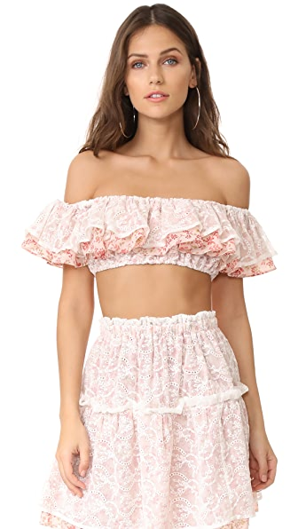 For Love & Lemons Sweet Dispostion Crop Top