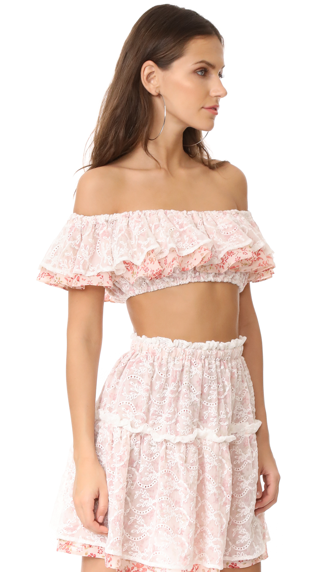4c23af4bdd5551 For Love   Lemons Sweet Dispostion Crop Top