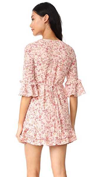 FOR LOVE & LEMONS Churro Mini Dress in Summer Floral