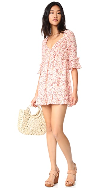 For Love & Lemons Churro Mini Dress