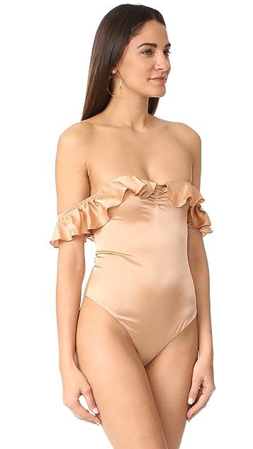 For Love & Lemons Virgo Ruffle Bodysuit