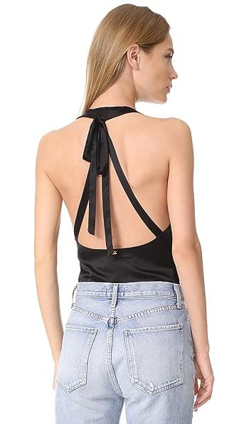 FOR LOVE & LEMONS Aries Bodysuit in Black