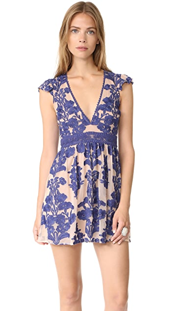 For Love & Lemons Temecula Short Sleeve Dress