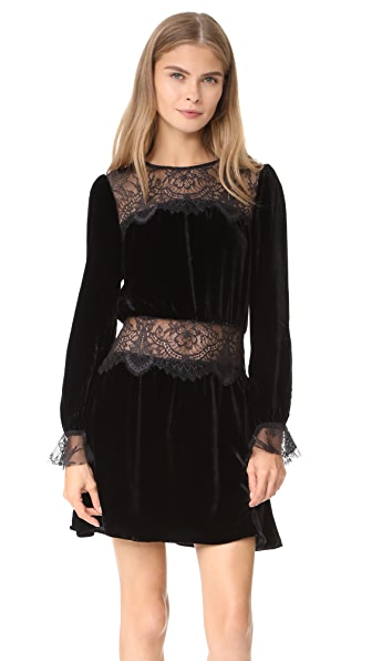 For Love & Lemons Beatrix Velvet Lace Dress at Shopbop