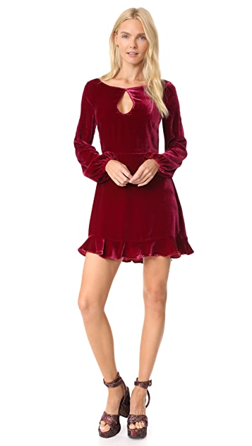 For Love & Lemons Velvet Mini Dress
