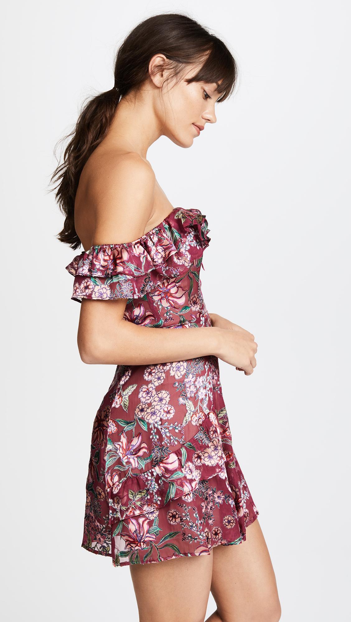 54b14ce2611d For Love & Lemons Flora Off Shoulder Mini Dress | SHOPBOP