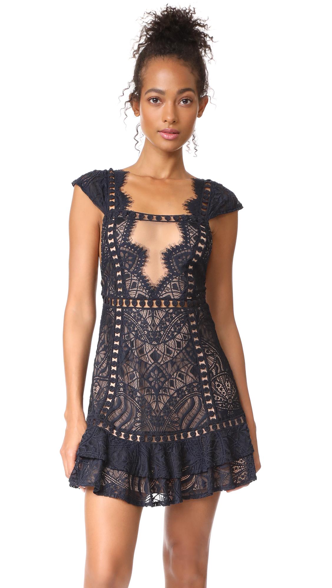 For Love & Lemons Emerie Dress In Black