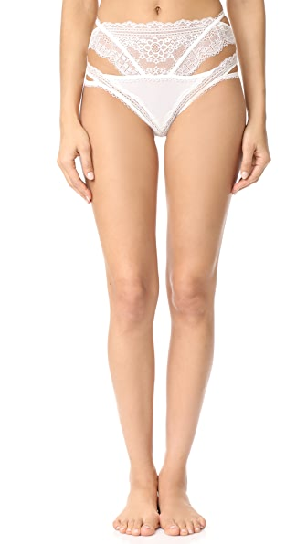 For Love & Lemons Elsa Strappy Panty - White