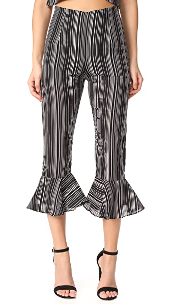 For Love & Lemons Stripe Pants - Stripe