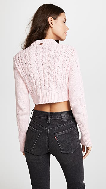 For Love & Lemons Candy Cable Knit Sweater