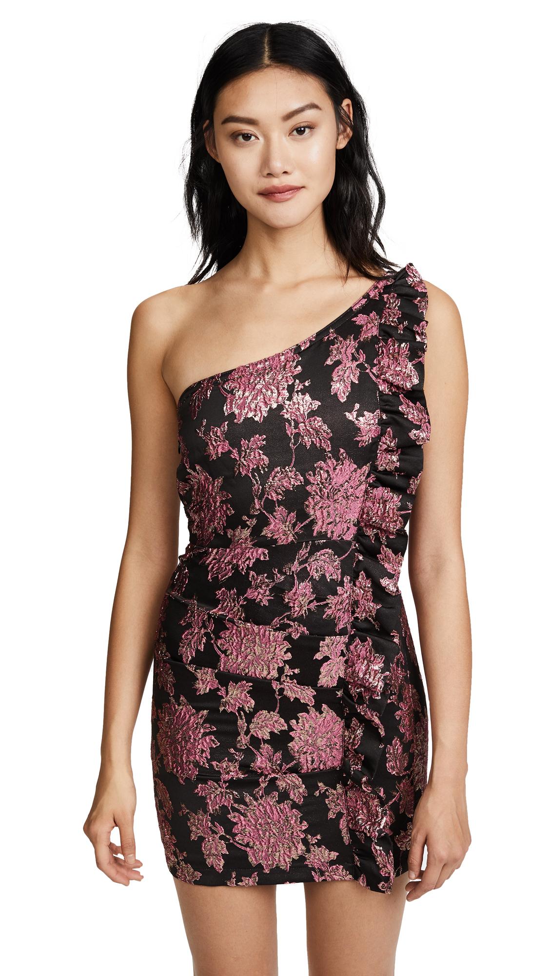 For Love & Lemons Luella Jacquard Mini Dress - Metallic