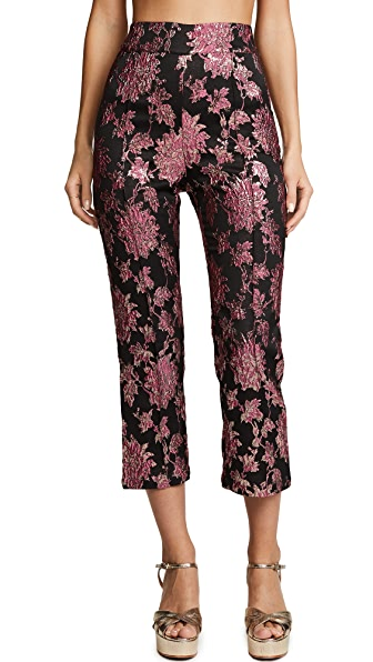 For Love & Lemons Luella Cigarette Pants In Metallic