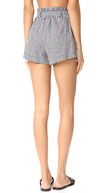 For Love & Lemons Gingham Shorts