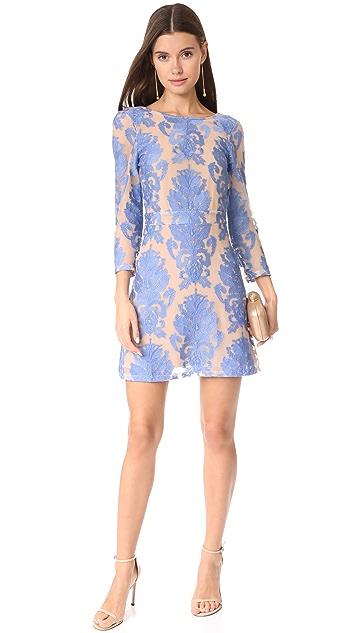 For Love & Lemons San Marcos Long Sleeve Mini Dress
