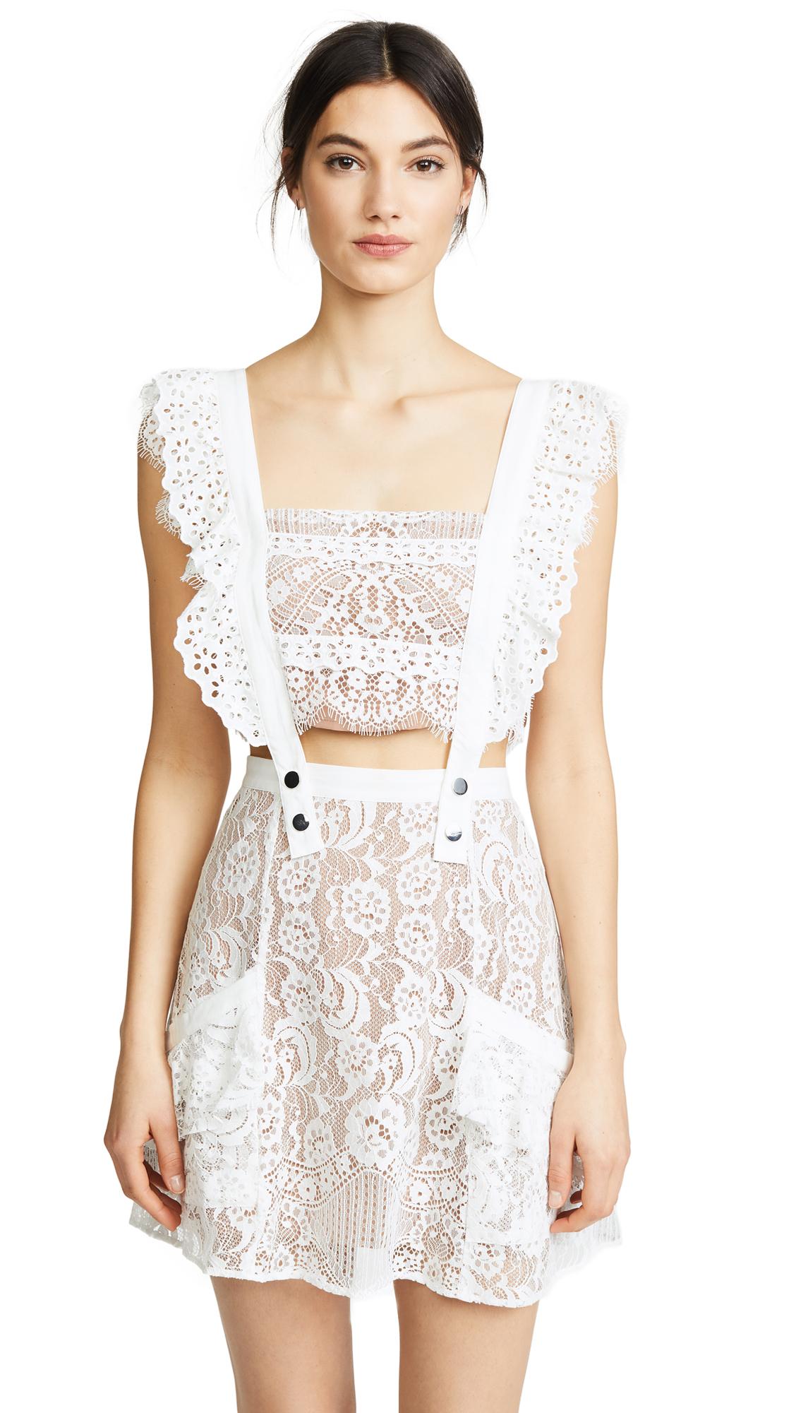 For Love & Lemons Tati Pinafore Lace Dress