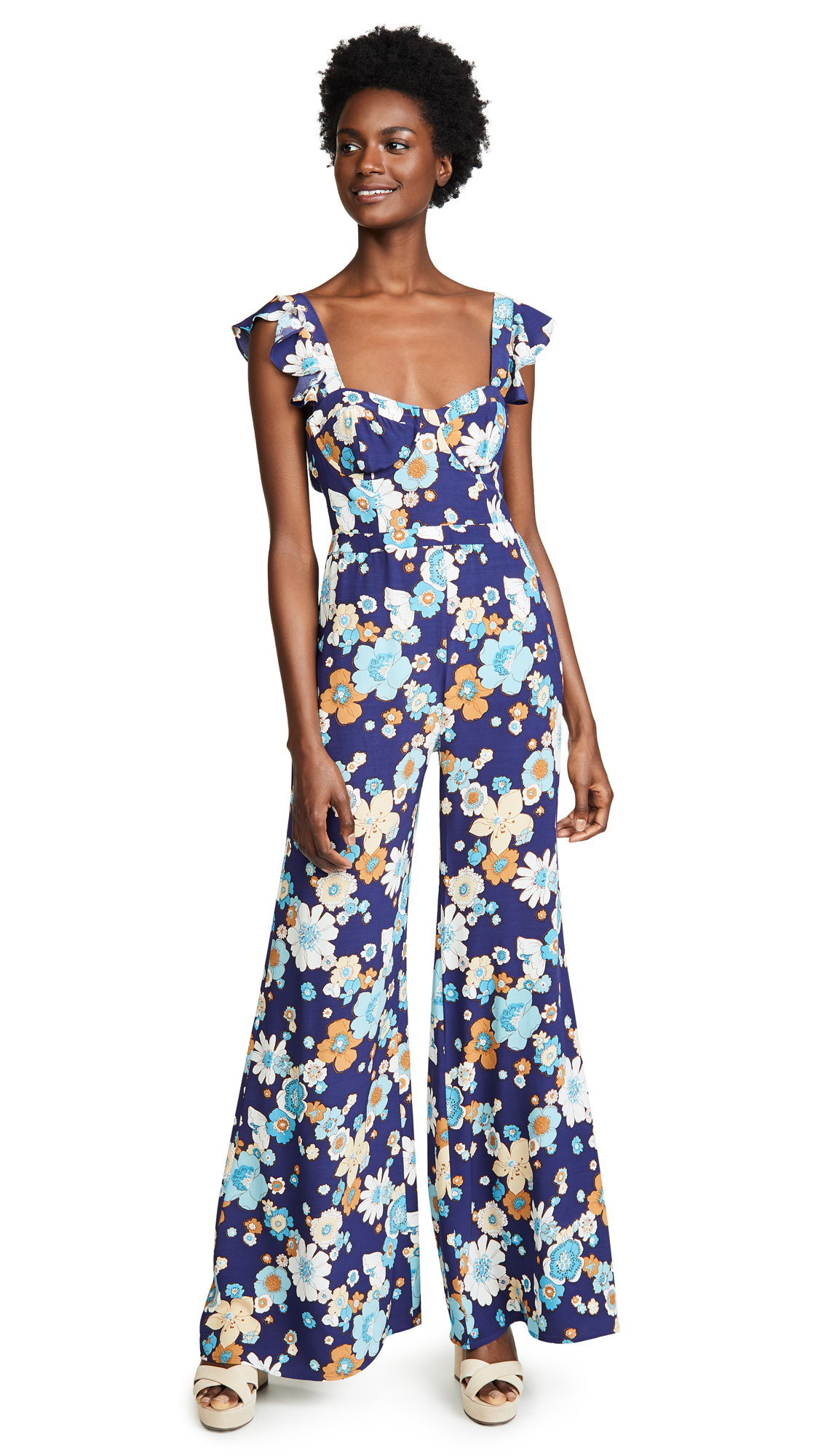 For Love & Lemons Magnolia Ruffle Jumpsuit