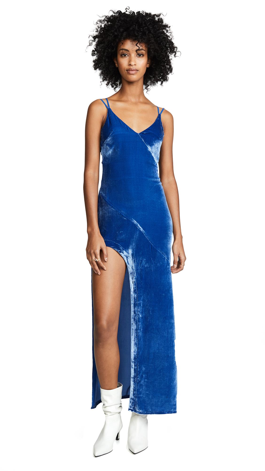 For Love & Lemons Nadine Velvet Maxi Dress