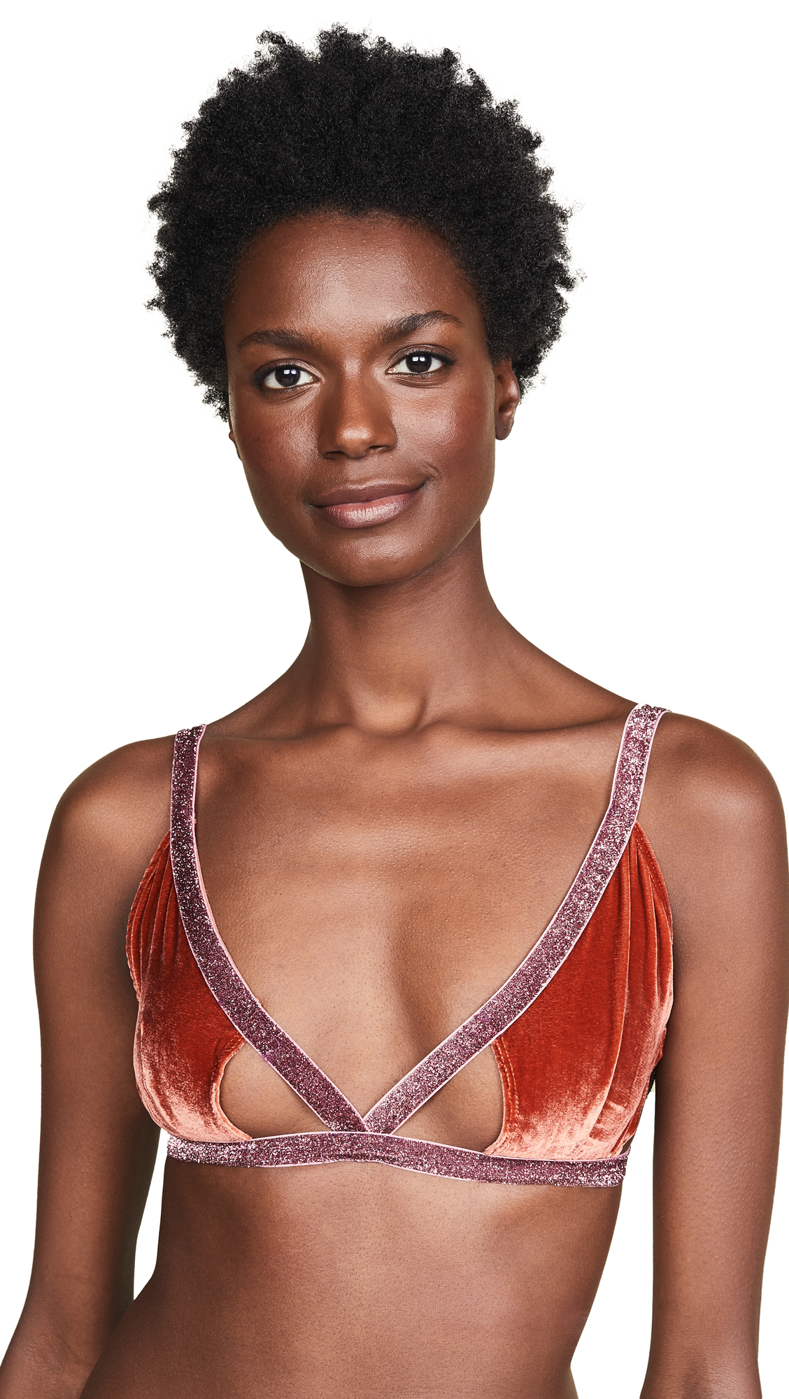 Sabina Triangle Bra, Rust