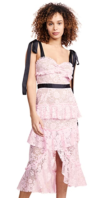 For Love & Lemons Iris High Low Dress