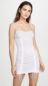 220c81d5d7d1 For Love & Lemons. Fondant Shirred Mini Dress