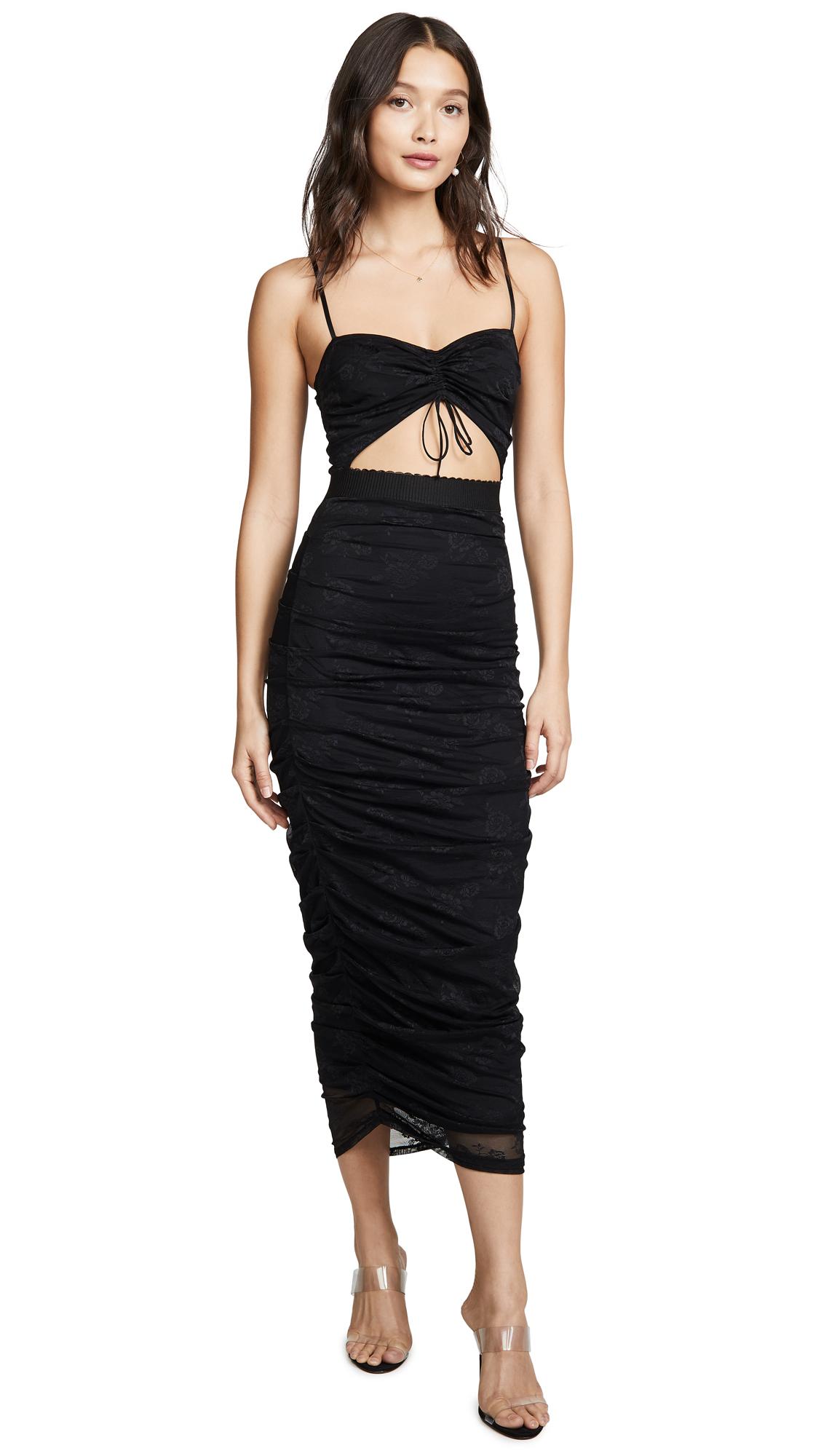 Buy For Love & Lemons online - photo of For Love & Lemons Poison Ruched Dress