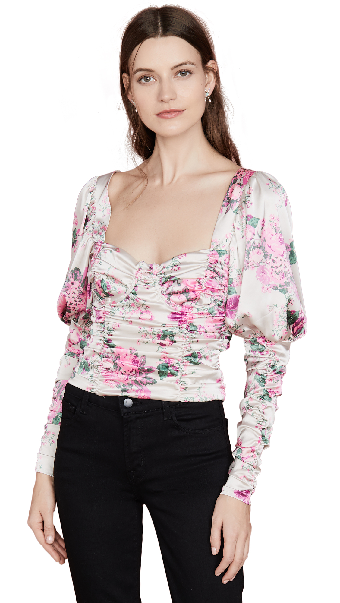 Buy For Love & Lemons online - photo of For Love & Lemons Palais Floral Crop Top