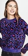 For Love & Lemons Marielle Leopard Sweater