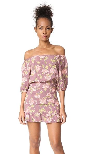 Flynn Skye Kristina Mini Dress In Mauve Blossoms