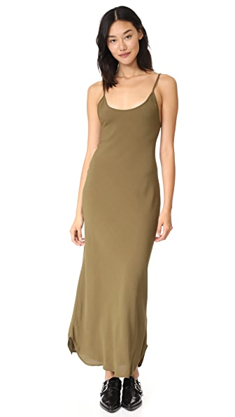 Flynn Skye Celine Slip Dress In Army