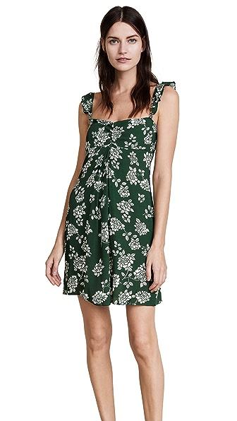 Flynn Skye Carla Mini Dress In Emerald Blooms