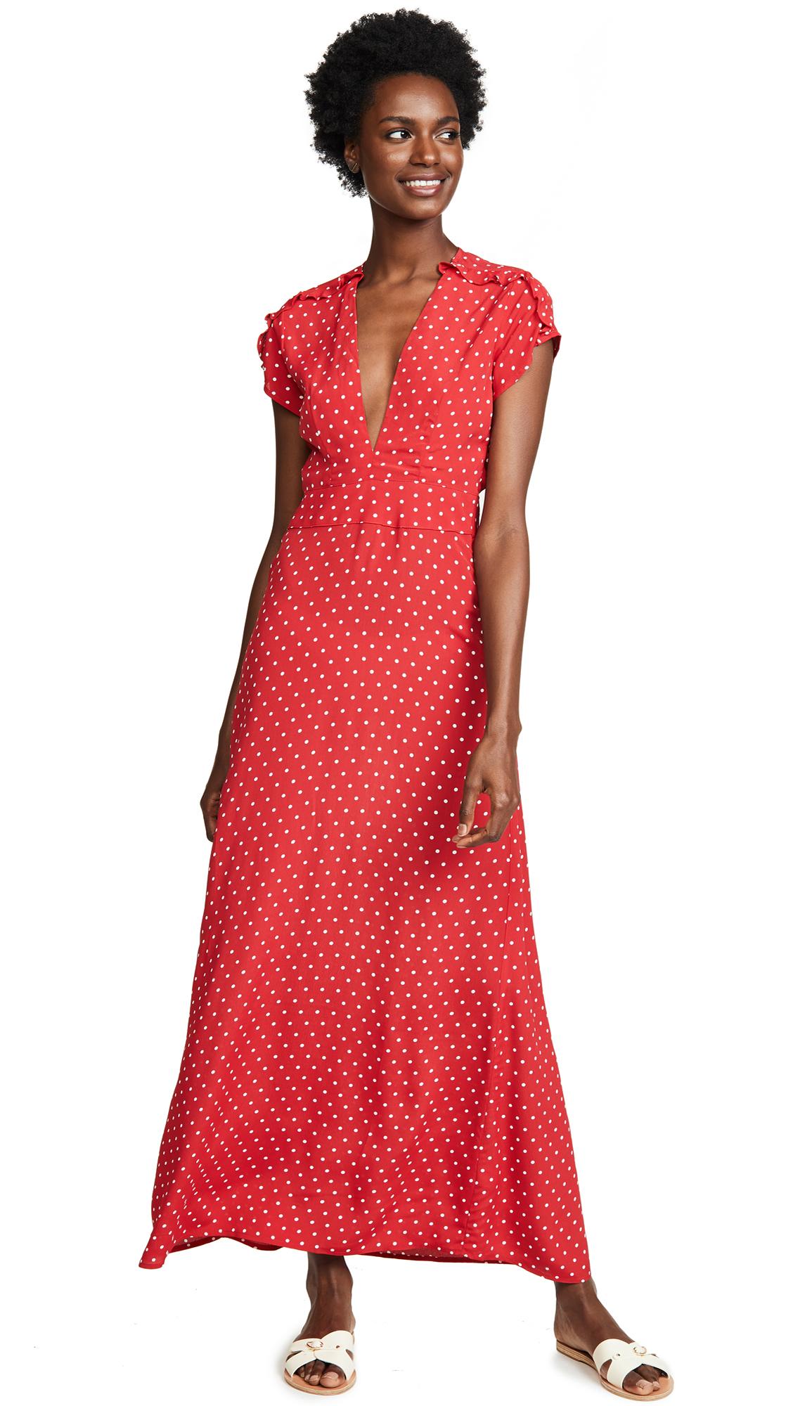 Flynn Skye Valentina Maxi Dress In Cherry Dots