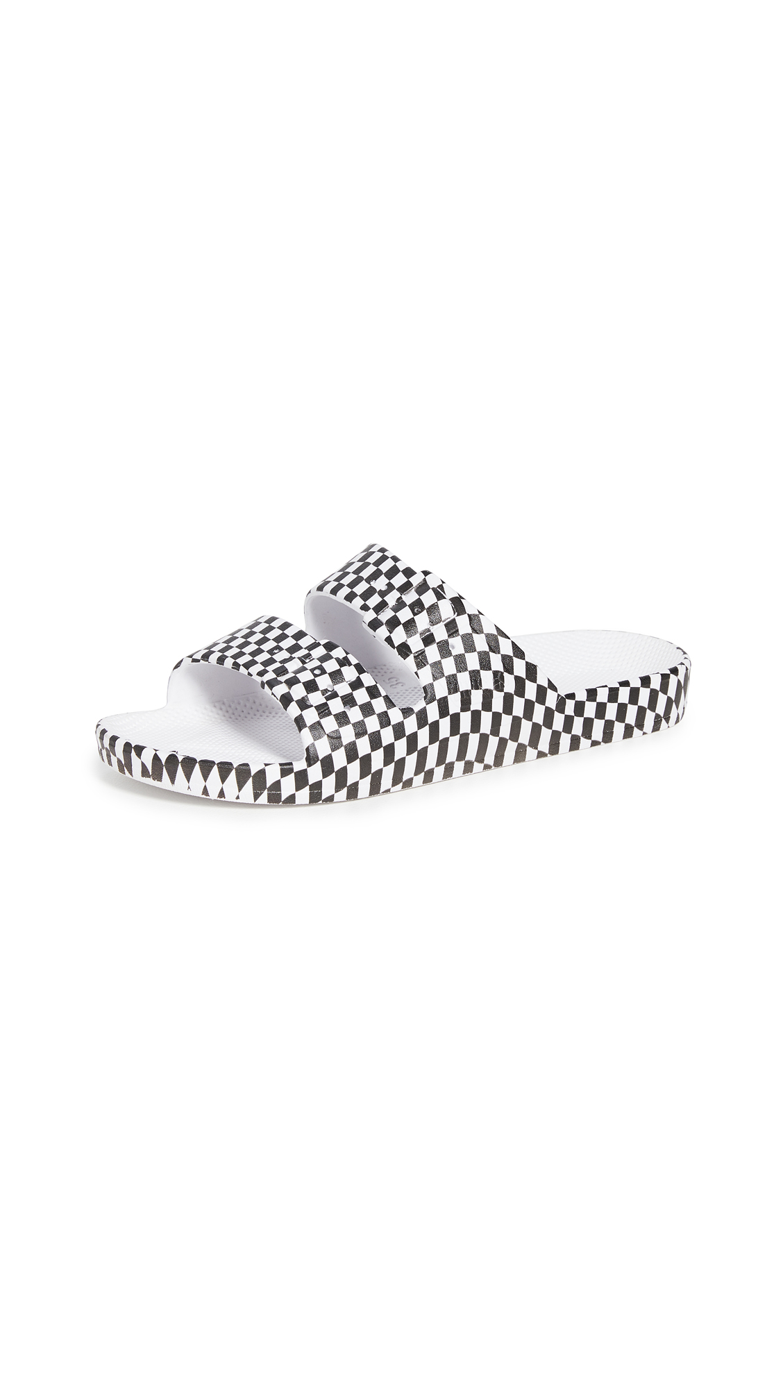 Buy Freedom Moses Two Band Slides online, shop Freedom Moses