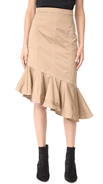 Fame and Partners Marley Skirt In Dark Tan