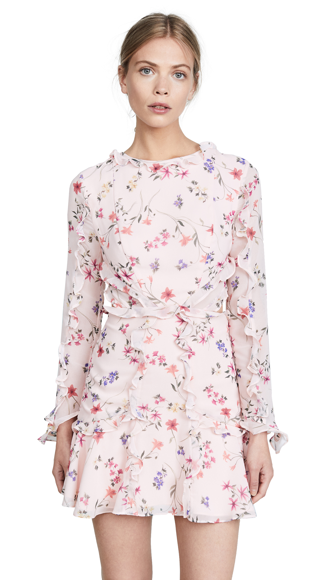 Fame and Partners The Kye Dress In Pink Floral