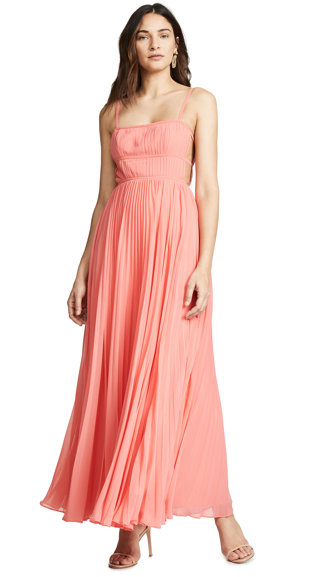 Fame and Partners The Erina Dress - Coral