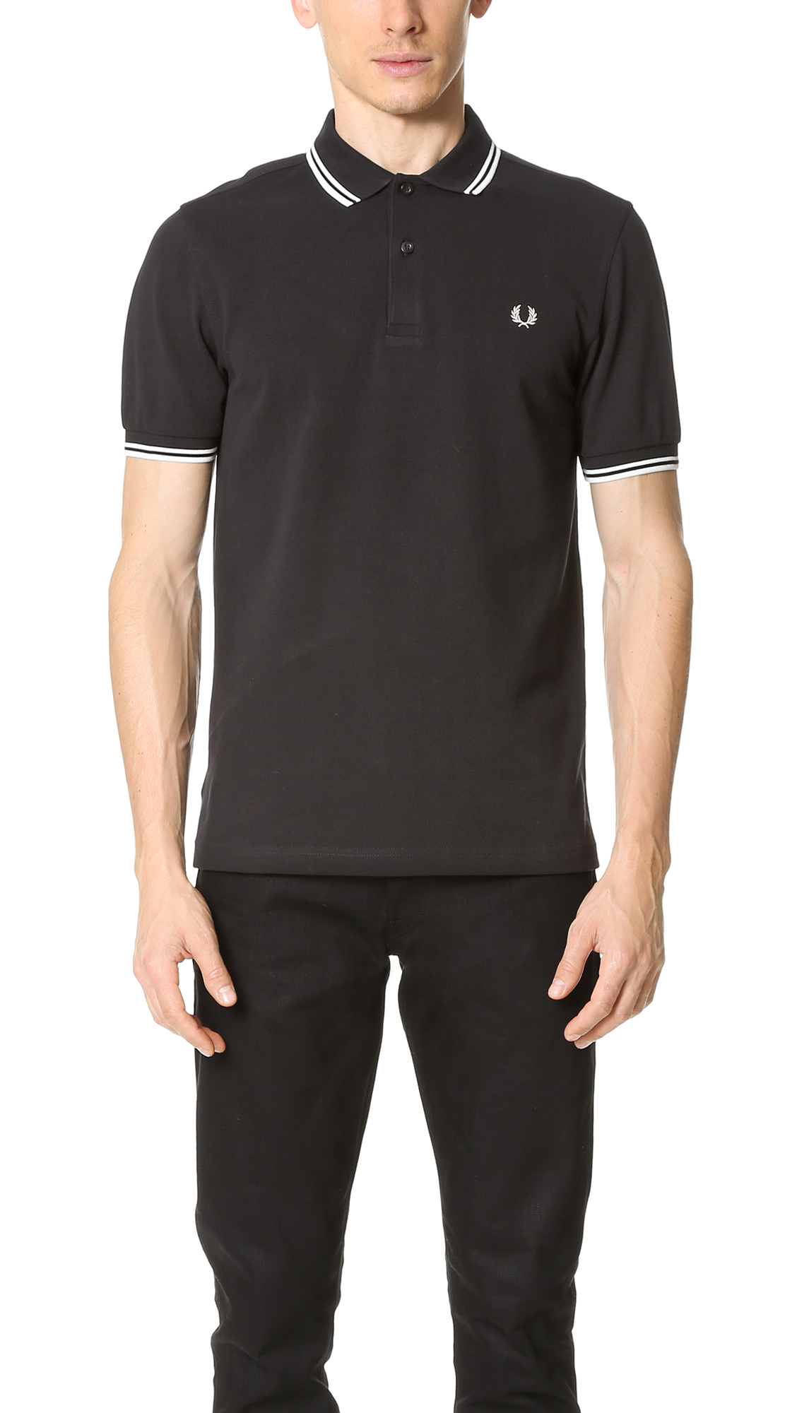 FRED PERRY Polo Shirt in Black