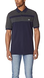 Fred Perry Stripe Panel Pique Shirt