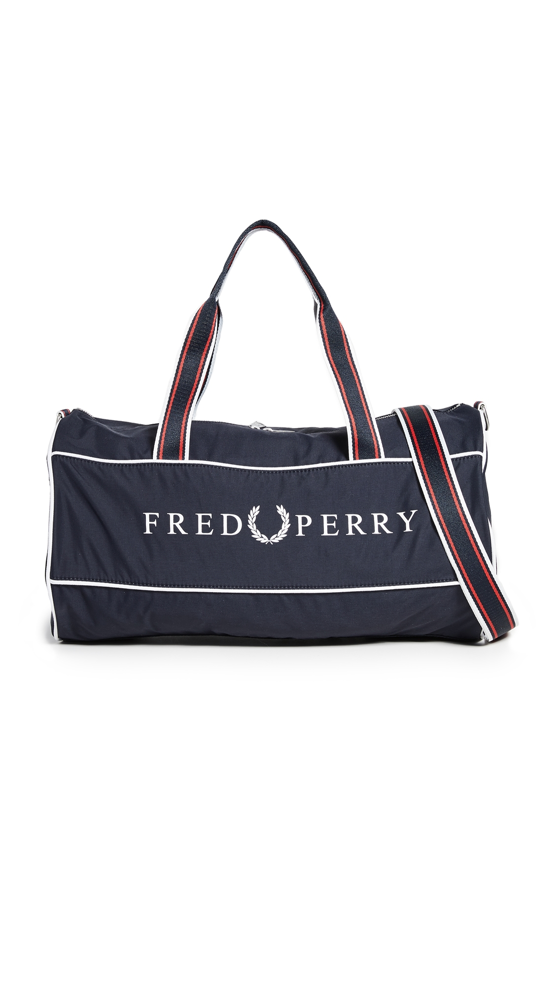 FRED PERRY | Fred Perry Retro Branded Barrel Bag | Goxip
