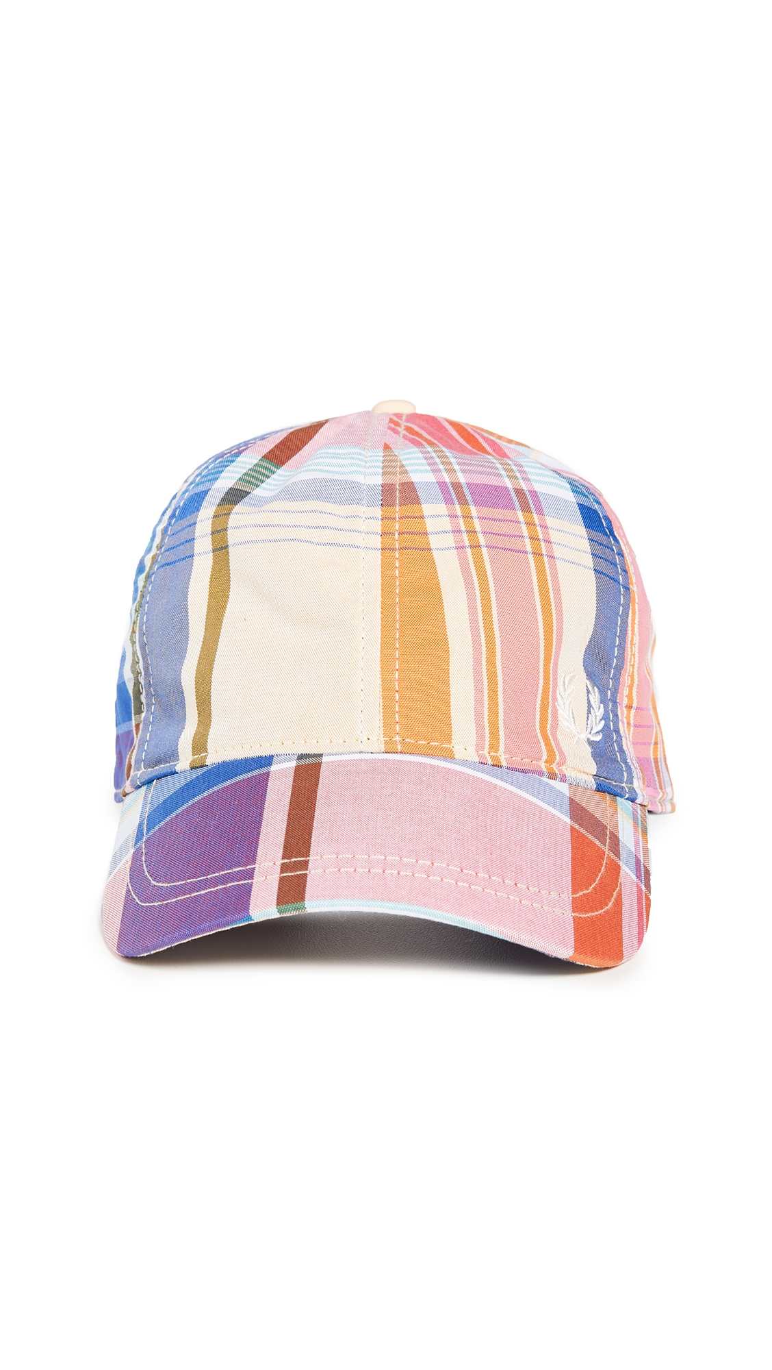 FRED PERRY | Fred Perry Madras Check Baseball Cap | Goxip