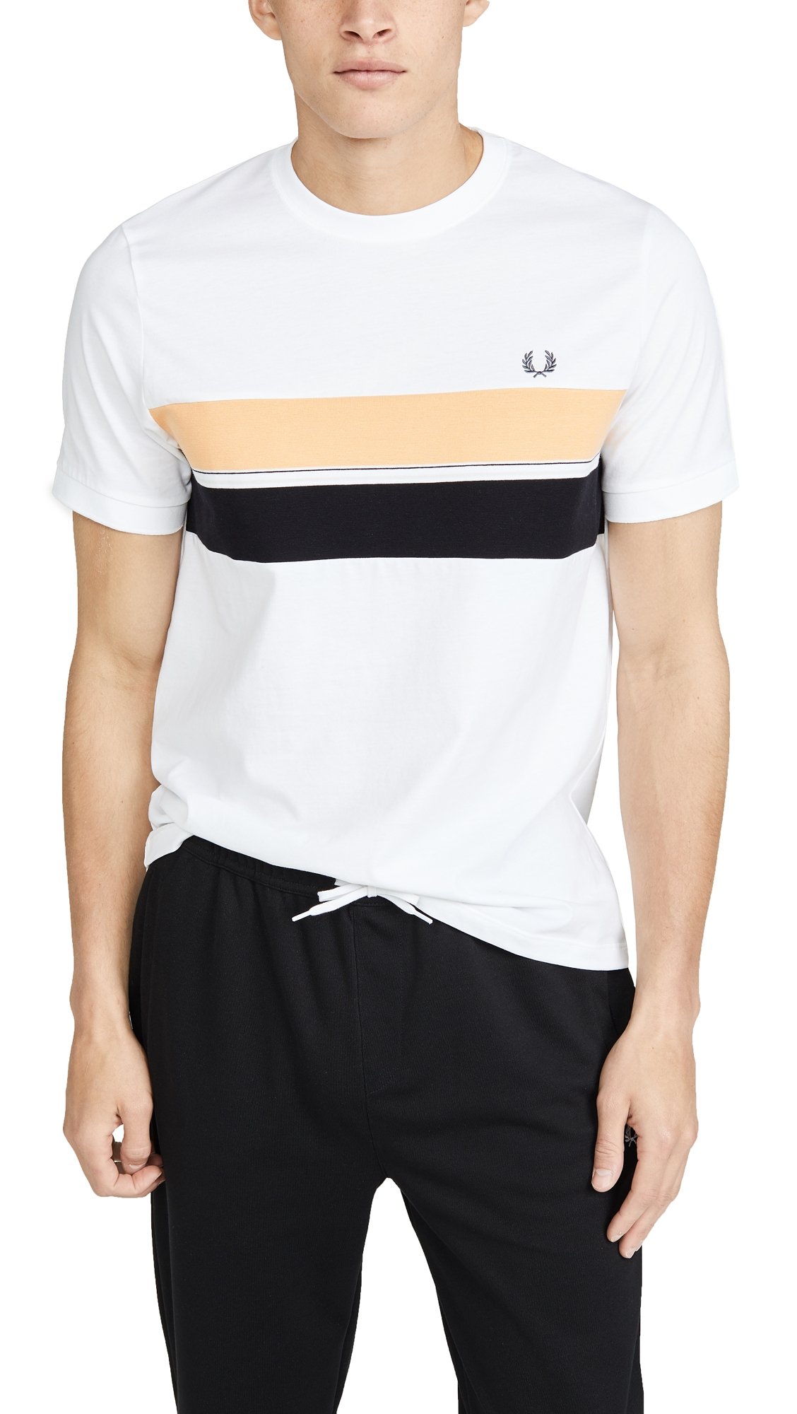 FRED PERRY | Fred Perry Striped Chest Panel Tee | Goxip