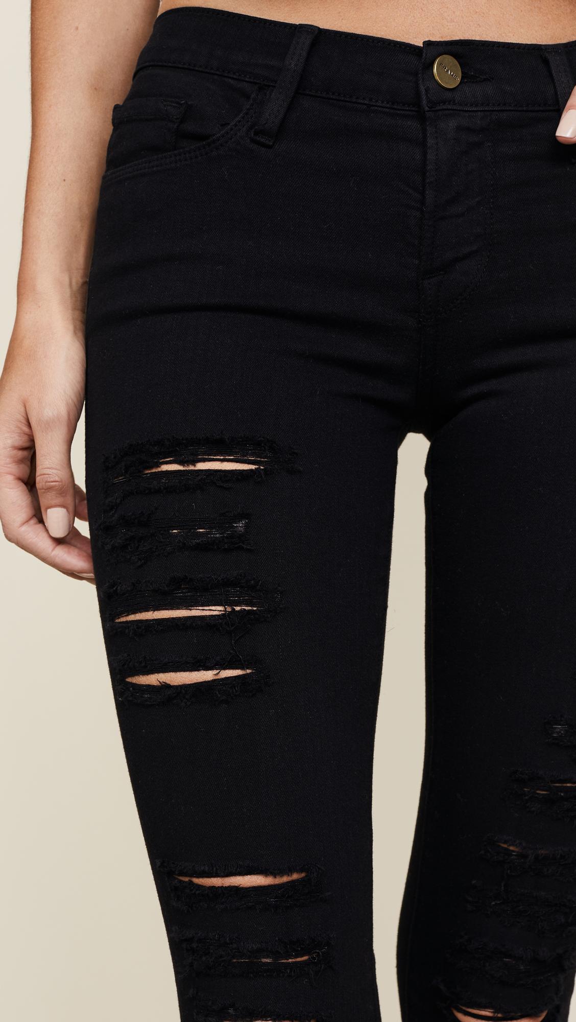 db8e273ef44134 FRAME Le Color Rip Skinny Jeans | SHOPBOP