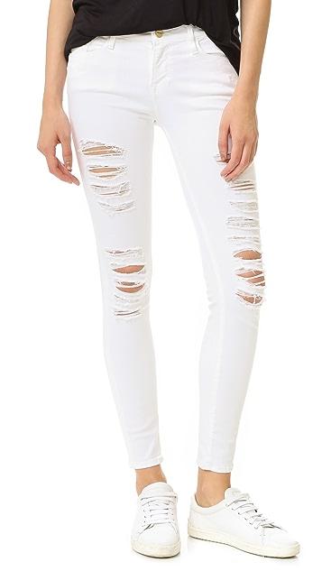 FRAME Le Color Rip Skinny Jeans