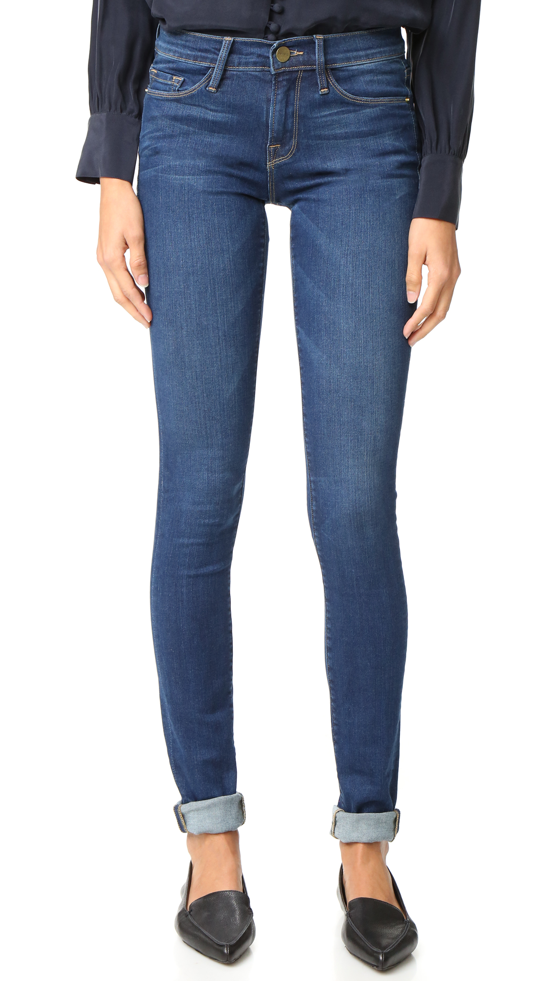 Buy FRAME online - photo of FRAME Forever Karlie Tall Skinny Jeans