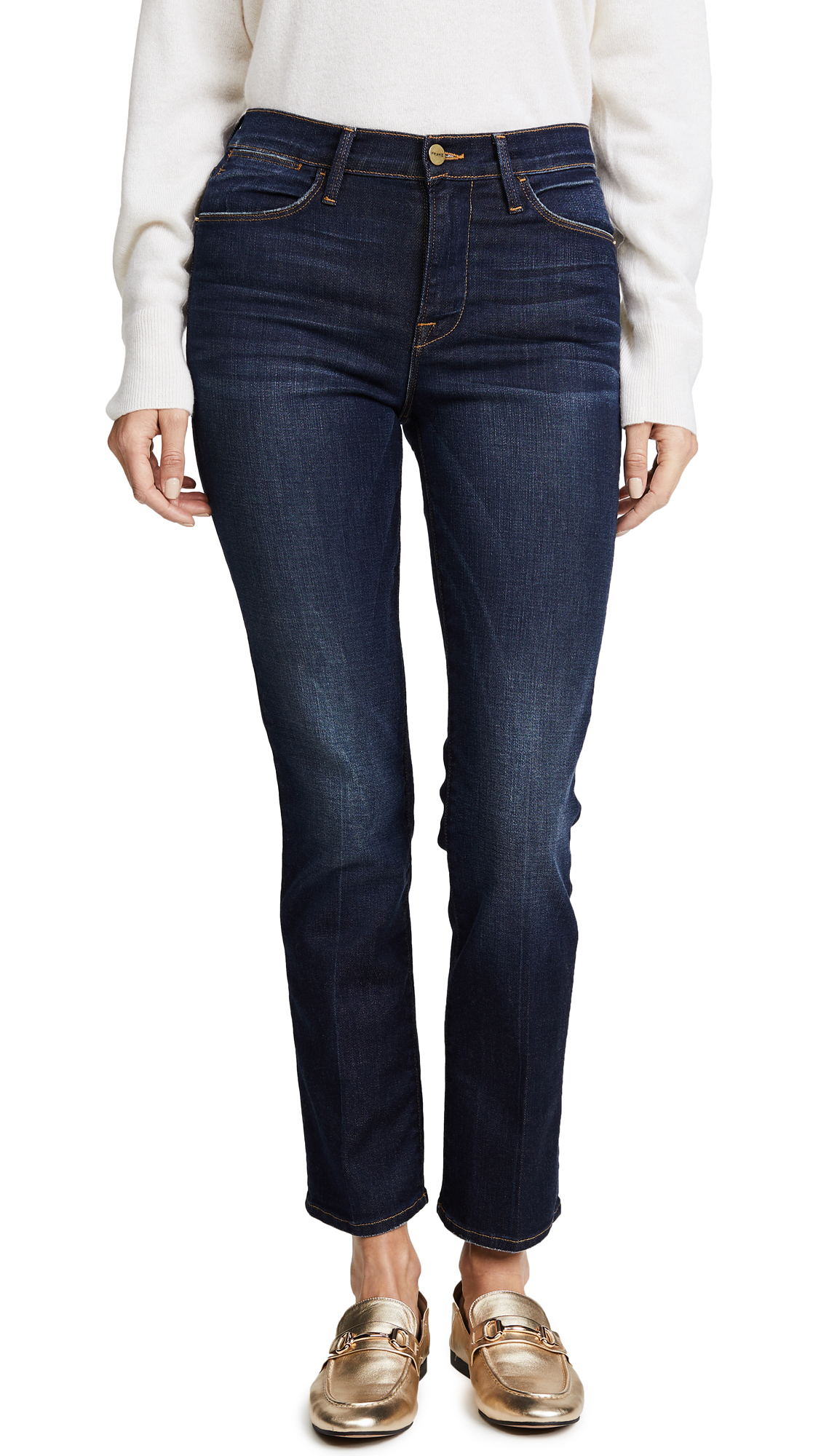 FRAME Le High Straight Jeans - Franklin