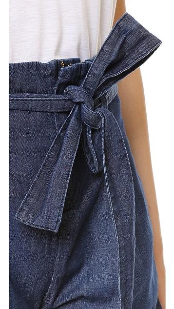 FRAME Le Paperbag Shorts