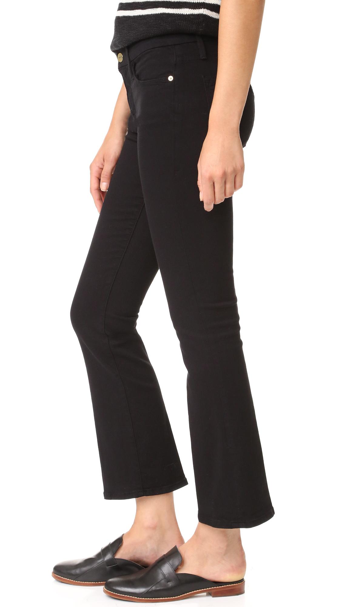 Velvet cropped trousers Frame Denim v5p1bFRG