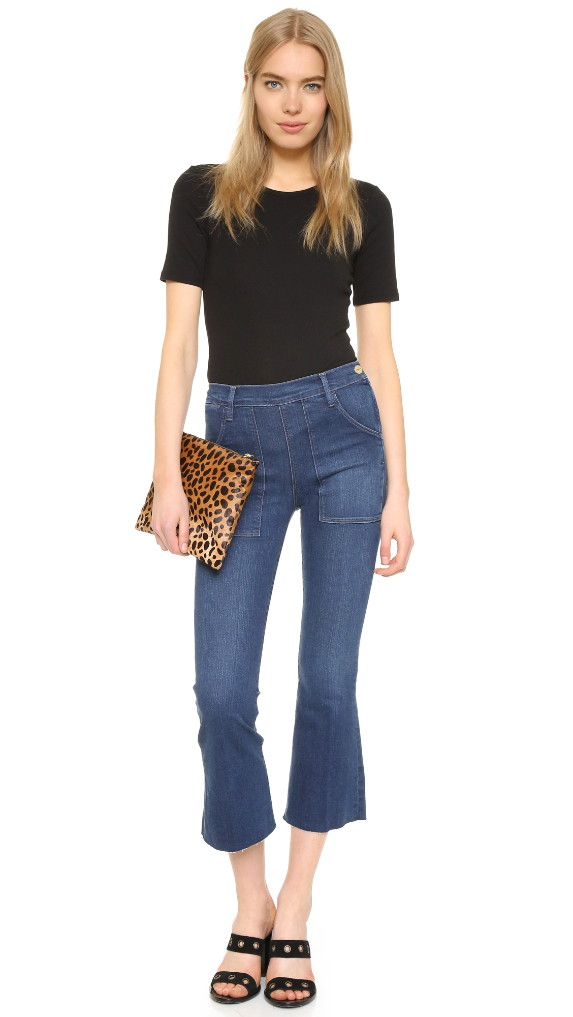 Le Crop Flare mid-rise jeans Frame Denim
