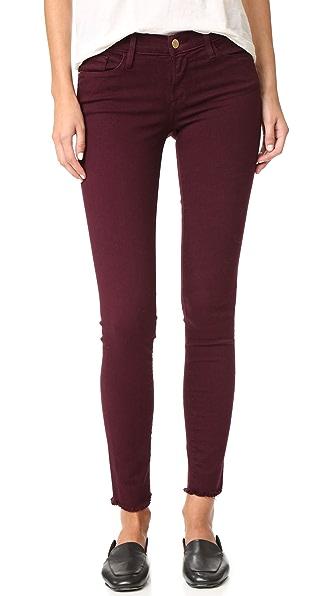 FRAME Le Skinny De Jeanne Raw Edge Jeans